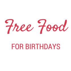 Free Food birthdays
