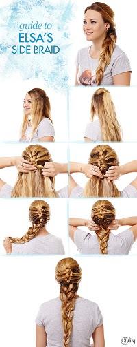 frozen elsas braid