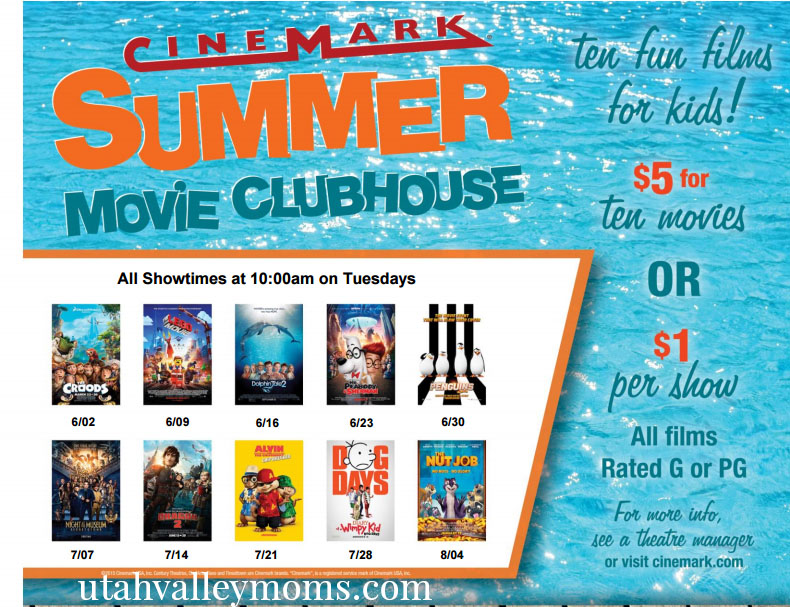 cinemark 2015 summer movies