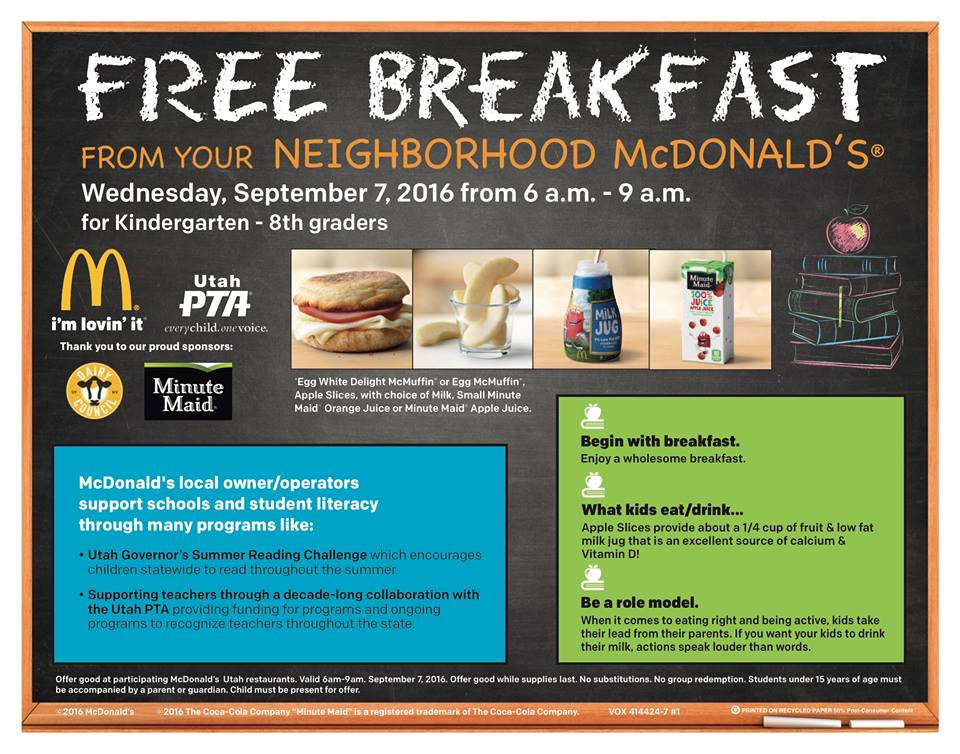 Free McDonald's Breakfast
