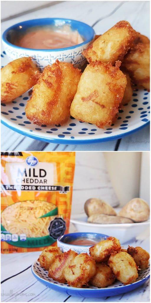 Homemade gluten-free cheesy tater tots recipe