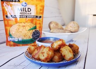 Homemade cheesy tater tots recipe