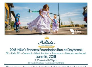 2018 Millie's Princess Foundation Run Flyer