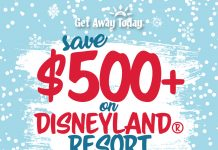 Save $500 on Disneyland vacation